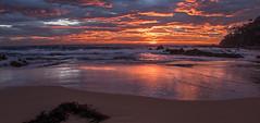 Dawn surge (OzzRod) Tags: pentax k1 smcpentaxda1017mmf3545fisheye dawn sunrise seascape coast beach sea ocean rocks millbeach cuttagee singleinapril2017