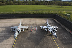 BAe Sea Harrier FA2 and Hawker Siddeley Harrier GR3 - 4 (NickJ 1972) Tags: raf cosford night nightshoot photoshoot photo shoot photocall timeline events tle 2017 aviation hawker siddeley harrier gr3 arctic xz991 07 bae britishaerospace fa2 zh796 l001
