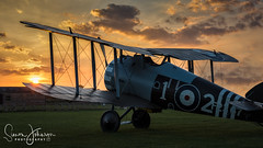 """ Sun Kissed Wing Tip "" (simonjohnsonphotography.uk) Tags: stowmaries sopwith raf aircraft nikon sunset aviation ww1 simonjohnsonphotography rfc nikonaviation sopwithsnipe greatwar tle"
