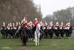 QUEENS CAVALRY READY FOR SUMMER OF CEREMONIAL (Defence Images) Tags: ceremonial occasion horse animal soldiers identifiable personnel helmet headwear plumedhelmet jackboots breastplate silvercuirasses army regiments thehouseholdcavalry thehouseholdcavalrymountedregiment hcmrd location london equipment clothing bugle sword albertmemorial defence defense uk british military londondistrict unitedkingdom gbr