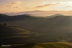 Tuscan countryside (Agrippino Salerno) Tags: italy tuscany cretesenesi asciano morning dawn sunrise light hills clouds fog mist countryside countryfarm shadow colors beautiful agrippinosalerno canon manfrotto
