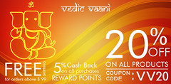 Discount, Cash back, Coupon code | VedicVaani.com (vedicvaani.com) Tags: discount 20 points reward back cash 5 shipping free code coupon products religious purchase items puja rudraksha
