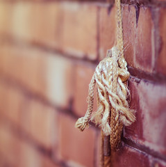 85mm f1.4 + preset (aecclesphoto) Tags: field vintage rope cobweb shallow depth brickwork preset lr4 nikond7000 samyang85mm14