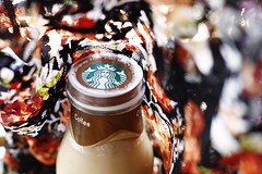 Starbucks Frappuccino (Minh Hoang/Chi Bo) Tags: color coffee cafe colorful bright silk fabric starbucks nut foodanddrink frappuccino