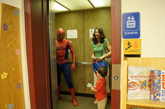 Spiderman uses Super Search Powers at Chardon Library! (Geauga County Public Library) Tags: search spiderman superhero catalog supersearch