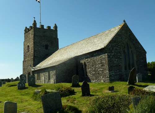 Forrabury Church over Boscastle