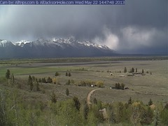 Web cam: Storm clouds over the Grand Teton mountain range (V. C. Wald) Tags: webcam grandtetonnationalpark dramaticweather