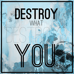 Destroy (brittneew) Tags: photoshop typography design graphic