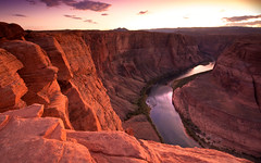 Horseshoe Bend Sunset (aisyk) Tags: sunset summer usa water river season landscape twilight time az canyon filter final page circularpolarizer neutralgradient