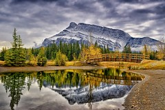 Cascade Pond, Banff (Phil's Pixels) Tags: autumn canada reflections bravo alberta banff mountrundle gettyimages notanhdr cascadepond