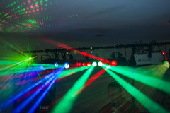 20130530_F0001: Flashy disco lights (wfxue) Tags: blue light red people music green night disco dance dj pattern candid smoke flash ceiling equipment event laser dots