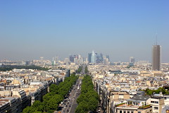 view from the Arc of Triomphe (erikalollipop) Tags: paris france spectacular amazing panoramic arcdetriomphe cityview