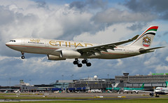 Etihad A330-200 (birrlad) Tags: ireland dublin sunlight up airplane airport haze taxi aircraft aviation airplanes line landing heat approach takeoff runway airliner