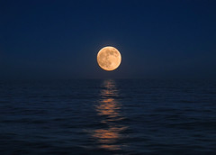 The moonless ocean (Giuseppe Suaria) Tags: ocean sea moon reflection mare luna riflesso perigeo perigeal