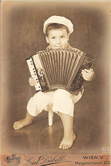 ... (MissSmile) Tags: old boy music manipulated kid child framed memories style accordion retro processed misssmile