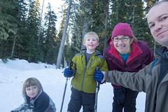 three out of four (dolanh) Tags: skiing lucas renee crosscountry mthood xcski zooey dolan teacuplake