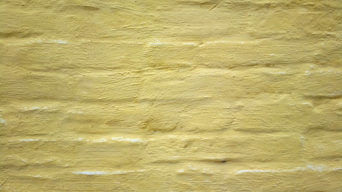 Painted yellow brick textures inside Lappeenranta fortress