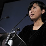 Yiyun Li on stage reading