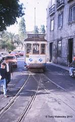 Lisbon 709 São Tomé (TonyW1960) Tags: lisbon tram lisbonroute28 strassenbahn electrico bonde streetcar tranvía трамвай spårvagn trikk トラム 电车 חשמלית ترام tranvia