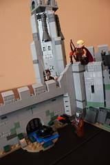Bring him down Haldir! (Vik_O) Tags: lego lordoftherings fortress tolkien rohan middleearth thetwotowers battleofhelmsdeep rohirrim