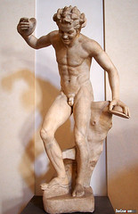 Rome, Italy, Dancing Faun. G.Volpato, bisque, 1790-9, Galleria Nazionale d'Arte Antica in Palazzo Corsini (danniepolley) Tags: italy rome art four olympus micro thirds em5 worldtrekker micro43