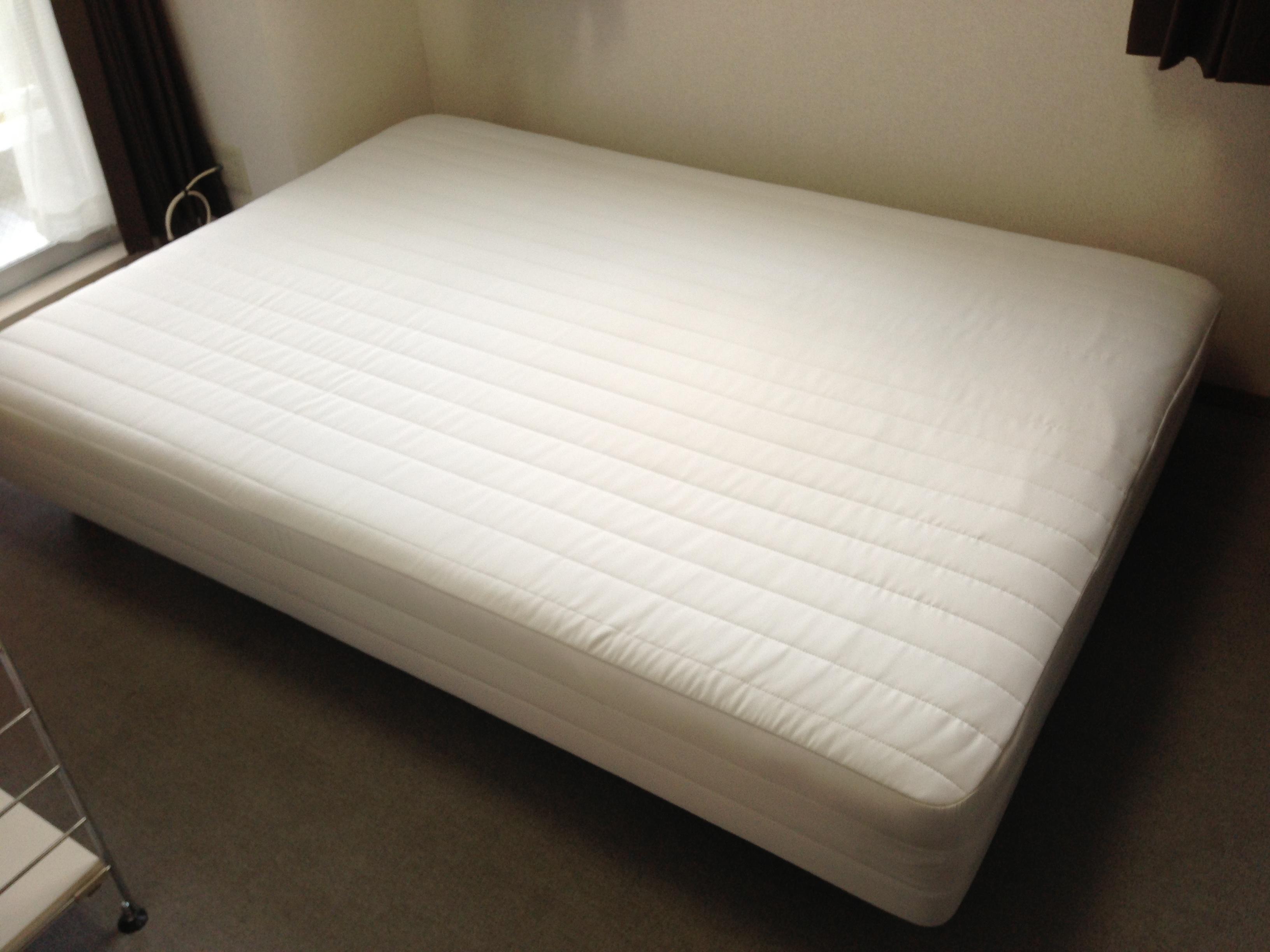 MUJI 無印良品 脚付きマットレス セミダブル ベッドパッド付き