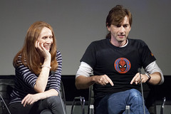 David imitates nerds typing angrily | 10th Doctor screening | BFI Doctor Who at 50 - 19 (Paul Dykes) Tags: uk england london panel southbank doctorwho qa drwho 50thanniversary bfi journeysend davidtennant 10thdoctor britishfilminstitute catherinetate series4 tenthdoctor bfisouthbank philcollinson donnanoble thestolenearth season30 graemeharper doctorwhoat50