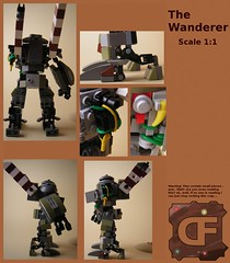 The Wanderer (Dead Frog inc.) Tags: fiction robot lego hard science suit scifi fi destroyed sci mecha apocalyptic maschine krieger moc maschinen hardsuit exosuit postapoc maschinekrieger