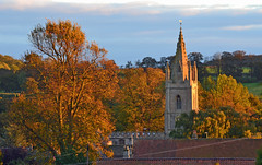 Empingham Church (AndyorDij) Tags: empingham england rutland uk 2013 church stpeterschurchinempingham autumn trees goldenhour andrewdejardin