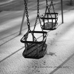 Playground swings (Keith Gooderham) Tags: park winter shadow white snow black ice playground scotland frost empty swing climbing frame deserted shanks johnstone renfrewshire copyrightgreenshootsphotography kg131119021aweb1
