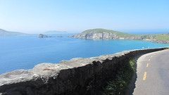 View along Slea Head Drive of Blasket Islands ...