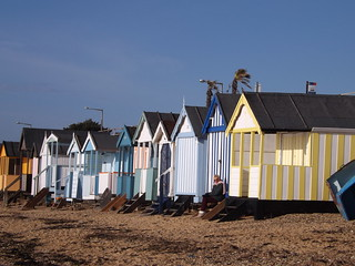 Guarding the beach hut, Thorpe Bay