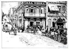 Porto Alegre Av Marechal Floriano esquina Praça XV 1898