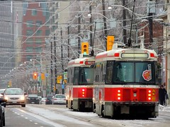 """Explored"" .... Streetcars Brought To A Standstill .... 2013 Ice Storm .... Toronto, Ontario (Greg's Southern Ontario (catching Up Slowly)) Tags: winter toronto ice weather nikon ttc tram explore icestorm streetcar torontotransitcommission explored nikoncoolpixp510 2013icestorm"