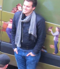 (ManontheStreet2day) Tags: smile crotch jeans bluejeans bulge