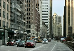 The Dead of Winter (BalineseCat) Tags: street chicago view traffic michigan avenue