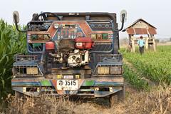 Thailand (siebe ) Tags: tractor car boer landscape thailand countryside scenery farmland mais thai land farmer 2014
