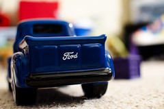 blue ford car truck toy 4x4 bokeh pickuptruck 4wheeler 365 day10 carmodel bokehlicious 365project miniturecar bokehwhores