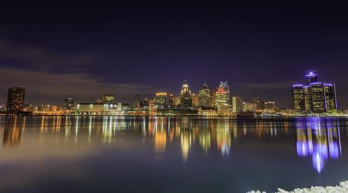 """Detroit Skyline by Night • <a style=""""font-size:0.8em;"""" href=""""http://www.flickr.com/photos/76866446@N07/11974219363/"""" target=""""_blank"""">View on Flickr</a>"""
