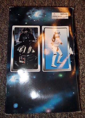 Darth Vader knockoff Star Wars doll box back
