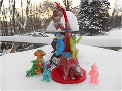 The whole haul since fall... (toothaction) Tags: snow tower toys tokyo m1 tricycle tokyotower trike toho goro gargamel ultraseven sofubi tsuburaya ultraq kemur m1go matango kanegon mongler toygraph ustoys thrashman kingjoe kemurseijin mongura トイグラフ