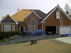 Protecting landscape during roofing