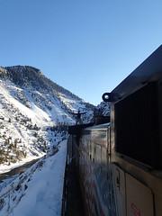 up there. (nessiegrace) Tags: railroad winter nature train colorado rail trains adventure coloradoriver freight trainhopping dpu winteradventures roofride