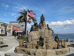 Cannery Row Monument (SeeMonterey) Tags: monument statue bronze canneryrow johnsteinbeck