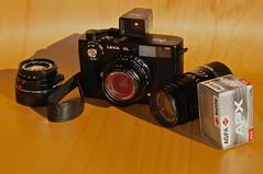 Leica CL kit (Conny66) Tags: 100 agfa apx leitz leicacl agfapan leicasummicron40mm leitzelmarc90mmf4 voigtländercolorskopar21mmf4