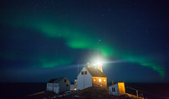 Hornya Lighthouse with Northern Lights (L.Mi
