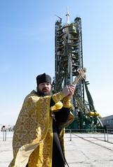 Expedition 39 Preflight (201403240003HQ) (NASA HQ PHOTO) Tags: kazakhstan baikonur baikonurcosmodrome russianpriest soyuzlaunchpad roscosmosrussianfederalspaceagency joelkowsky expedition39 expedition39preflight tma12m