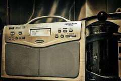 morning essentials .... (HHH Honey) Tags: 117picturesin2017 14radioday 14 radioday radio sonya7rii minolta50mm minolta coffee onone on1 googlenikcollection analog desaturated