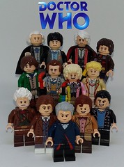 The Doctors (Barratosh#2) Tags: william hartnell patrick troughton jon pertwee tom baker peter davidson colin sylvestor mccoy paul mcgann john hurt christopher ecclesson david tennant matt smith capaldi doctor who tardis k9 sonic screwdriver space time bbc british lego minifigure