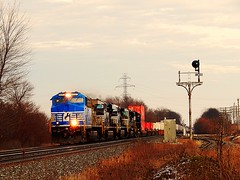 NS 4001 headed west at Brimfield Indiana (Matt Ditton) Tags: ns 4001 brimfield indiana